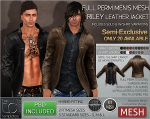 Display RILEY Leather Jacket PSD