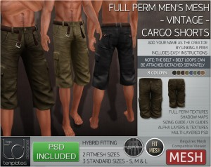 Display VINTAGE Cargo Shorts