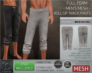 Display ROLL UP TRACK PANTS